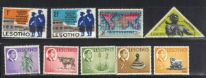 LESOTHO STAMP LOT#1 MH AND USED  SEE SCAN