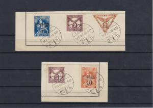 Fiume 1919 Overprints Postage Dues Newspaper Stamps Ref: R4503