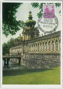 32273  - GERMANY DDR  - POSTAL HISTORY -- MAXIMUM CARD Architecture 1957