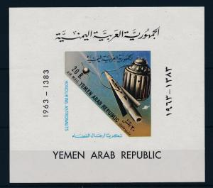 [34022] Yemen 1963 Space Travel Weltraum Honouring astronauts Imperf. Sheet MNH