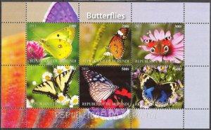 Burundi 2011 Butterflies (2) MNH Cinderella !
