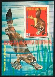 Equatorial Guinea Mint S/S Platypus