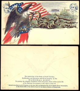 HARBACH MULTICOLOR PATRIOTIC COVER THE DESTRUCTION OF THE SNAKE OF S.C. BT3798