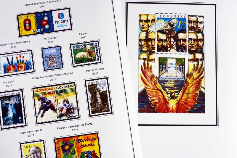 COLOR PRINTED SLOVAKIA 1939-2010 + 2011-2019 STAMP ALBUM PAGES (131 ill. pages)