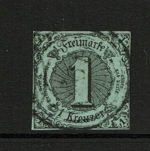 Thurn and Taxis SC# 42a, Used, shallow, top margin thin - S8680