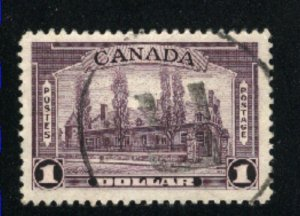 Canada #245   used   VF  PD
