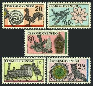 Czechoslovakia 1826-1830,MNH.Michel 2086-2090. Ornamental Wire works,1972.