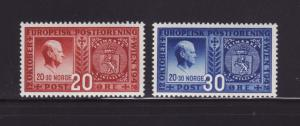 Norway 253-254 Set MHR Stamps on Stamps (A)