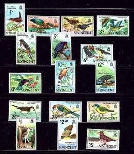 St Vincent 279-94 MNH 1970 Birds Definitive Set