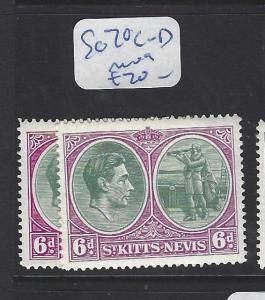 ST KITTS NEVIS  (PP2806B)  KGVI  6D  SG 74 C-D      MOG