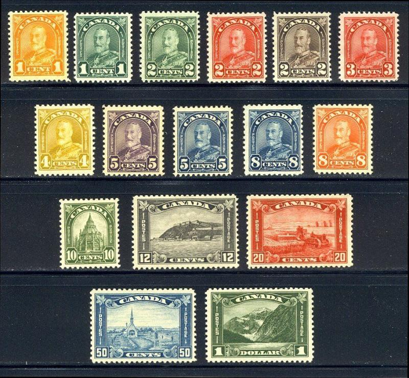 CANADA #162-77 Mint - 1930 K G V Pictorial Set