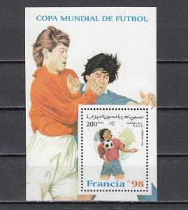 Sahara, 1998 Cinderella issue. France World Cup Soccer s/sheet. ^