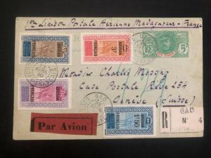 1930 Gao French sudan First Flight Airmail Postcard cover FFC to Geneva Switzerl