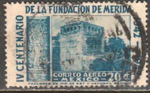MEXICO C117, 20c 400th Anniv of Merida - Convent. Used  F-VF. (712)