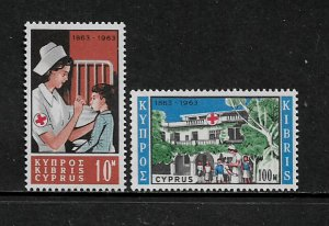 Cyprus #227-8 MNH Set - Red Cross