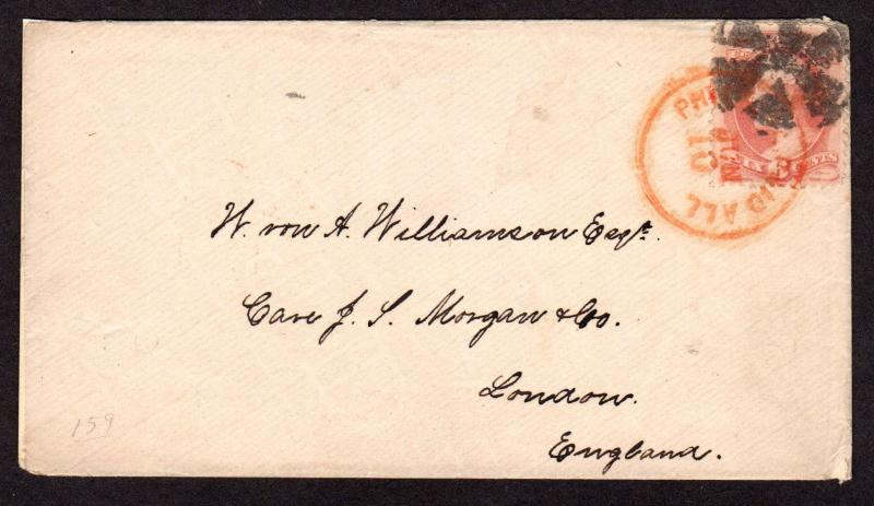 $Ship Cover 1875 American Line Illinois, final voyage (very scarce)