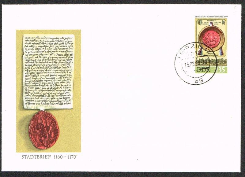 Germany DDR Postal Stationery Michel U11