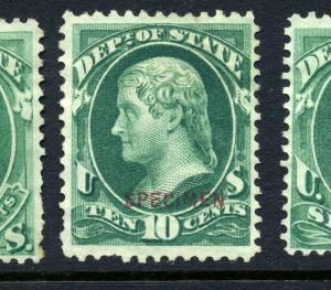 Scott #O62S State Dept. Special Printing Specimen Official Stamp (Stock #O62-13)