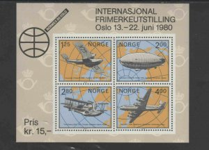 NORWAY #753  1980  NORWAY 80'    MINT  VF NH  O.G  S/S