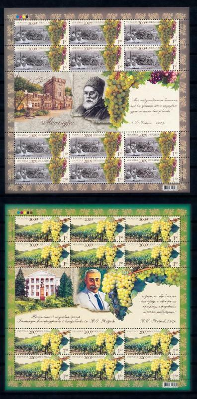 [58518] Ukraine 2009 Viticulture Wine production Two full sheets Vin  MNH