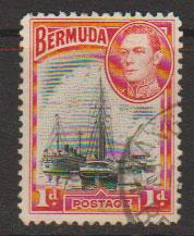 Bermuda SG 110 Fine Used - orange red shading