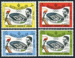 Jordan C22-C25,C25a perf,imperf.MNH.Mi 449-452,Bl.12A-B.Hussein Sports City,1964