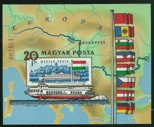 Hungary - Scott 2712 var Souvenir Sheet VF MNH