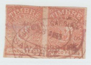 Dominican Republic revenue fiscal stamp 7-24-21
