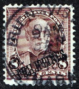 Philippines Stamp #222 1901 OVPT ON US 8C STAMP USED