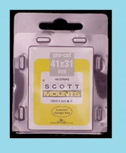 Scott Mounts Black 41/31, U.S.Semi-Jumbo(pkg 40)(00905B)