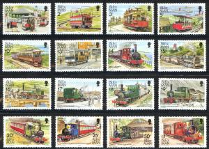 Isle of Man Sc# 347-358D MNH 1988 Railways & Tramways