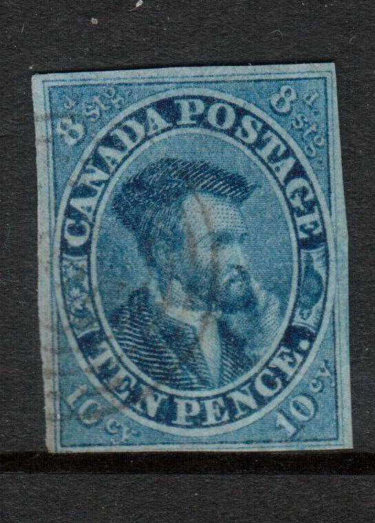 Canada #7 Very Fine Used With Tiniest Barely Visible Corner Crease *With Cert.*