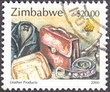 Zimbabwe # 850 used ~ $20 Leather Products