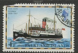 Falkland Is.- Scott 263 - Ships Issue - 1978 - VFU - Single 4p Stamp