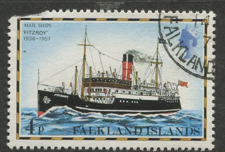 Falkland Is.- Scott 263 - Ships Issue - 1978 - VFU - Single 4p Stamp
