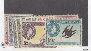 VIRGIN ISLANDS # 115-127 VF-MNH CAT VALUE $98.85