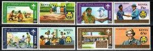 Kenya #217a, 219a, 221a, 223a  MNH CV $15.00 (P671)