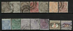 Italy 14 Cambiali 1908 Stamps, minor toning; see notes - S6076