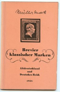 Germany, Mueller Mark, 1958 Brevier klassischer Marken, States & Empire, 100 p.