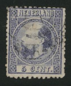 Netherlands Scott 7 used 1867 stamp