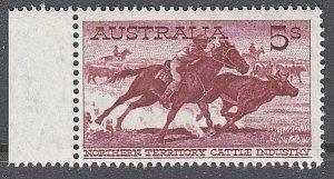 AUSTRALIA 1964 5/- Stockman WHITE PAPER - marginal MNH......................L343