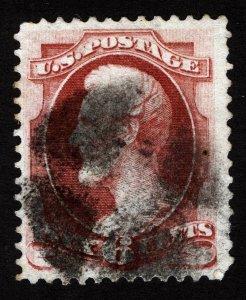 US Sc 148 Carmine 6¢ Quartered Cork Cancel *Oak Lot