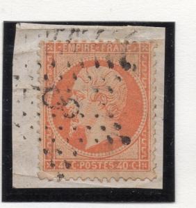 France 1863 Napoleon Used 40c. Paris Etoile Postmark 8  176118