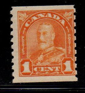 Canada Sc  178 1930 1 c orange G V Arch issue coil stamp mint