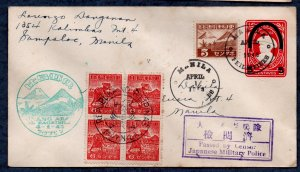 Philippines Censored WWII cover, addressed (1943) #3