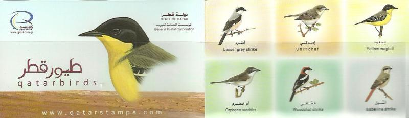 Qatar = 2009 Birds 50 BOOKLETS  one sealed bandel - Free Register Mail