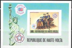 Upper Volta US Bi-Centennial proof card #C244 Airmail. Liberty