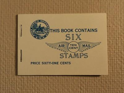 USPS Scott C10a 10c Lindbergh Air Mail 1927 Booklet Mint ...