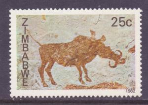 Zimb*bwe Scott 450, 1982 Rock Paintings 25c MNH**