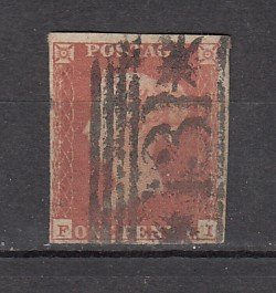 J26375  jlstamps 1841 great britain used #3 queen